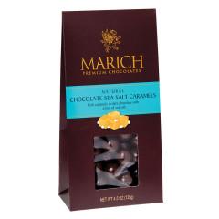 MARICH DARK CHOCOLATE SEA SALT CARAMELS 4.5 OZ GABLE BOX