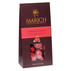 MARICH CHOCOLATE CHERRIES 4.5 OZ GABLE BOX