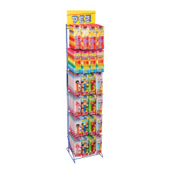PEZ DISPLAY RACK 24 HOOKS