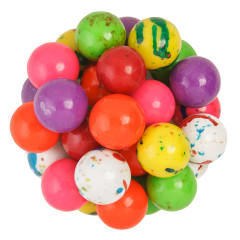 CLEVER CANDY ASSORTED JAWBREAKERS WITH CANDY CENTER 1 INCH