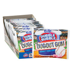 DUBBLE BUBBLE DUGOUT GUM 2.25 OZ POUCH