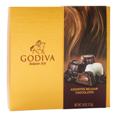 GODIVA ASSORTED CHOCOLATES 3.9 OZ BOX