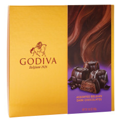GODIVA ASSORTED DARK CHOCOLATES 6.6 OZ BOX