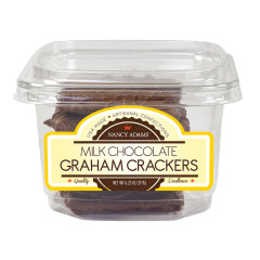 NANCY ADAMS MILK CHOCOLATE GRAHAM CRACKERS 6.25 OZ TUB