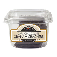 NANCY ADAMS DARK CHOCOLATE GRAHAM CRACKERS 6.25 OZ TUB