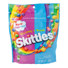 SKITTLES WILD BERRY AND TROPICAL MASHUPS 9 OZ POUCH