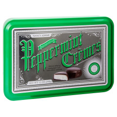 NANCY ADAMS DARK CHOCOLATE PEPPERMINT CREMES 12 OZ TIN