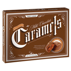 NANCY ADAMS MILK CHOCOLATE SEA SALT CARAMELS 8 OZ BOX