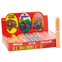 EL BUBBLE II ORIGINAL BUBBLE GUM CIGARS - ORANGE, GRAPE, STRAWBERRY FLAVORS