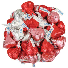 HERSHEY'S VALENTINE'S DAY RED PINK AND SILVER KISSES 18.5 OZ