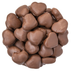 NASSAU CANDY MILK CHOCOLATE COVERED GUMMY HEARTS