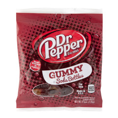 DR. PEPPER GUMMY SODA BOTTLES 4.5 OZ PEG BAG