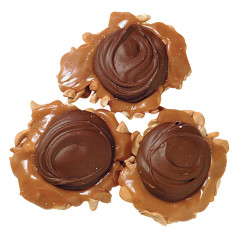 ASHER'S JUMBO MILK CHOCOLATE CASHEW PRALINES 3 OZ