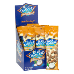 BLUE DIAMOND TOASTED COCONUT ALMONDS 1.5 OZ BAG