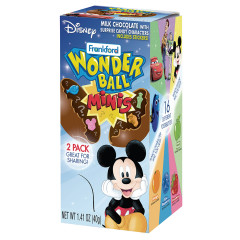 DISNEY WONDER BALL MINI CHOCOLATE SURPRISE 1.41 OZ BOX