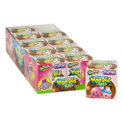 SHOPKINS WONDER BALL CHOCOLATE SURPRISE 1 OZ BOX