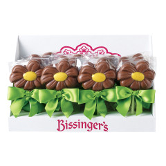 BISSINGER'S YELLOW DAISY MILK CHOCOLATE 1 OZ LOLLIPOP