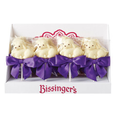 BISSINGER'S WHITE CHOCOLATE LAMB 1 OZ LOLLIPOP