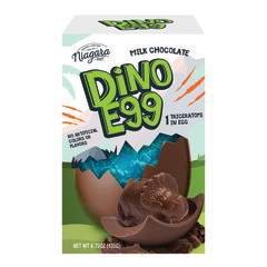 NIAGARA CHOCOLATES DINO MILK CHOCOLATE SURPRISE EGG 4.75 OZ BOX