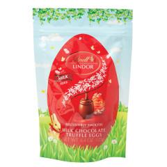 LINDT LINDOR MILK CHOCOLATE TRUFFLE EGGS 4.4OZ POUCH