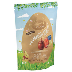 LINDT LINDOR ASSORTED CHOCOLATE TRUFFLE EGGS 4.4 OZ POUCH