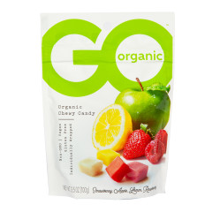 GO ORGANIC ASSORTED FRUIT CHEWS 3.5 OZ POUCH
