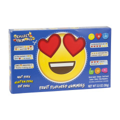 EMOJI HEART EYES GUMMY CANDY 3.5 OZ THEATER BOX