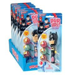 POP UPS JUSTICE LEAGUE LOLLIPOP 1.26 OZ BLISTER PACK