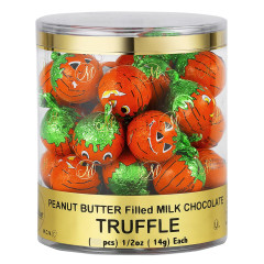 MADELAINE PEANUT BUTTER FILLED MILK CHOCOLATE FOILED PUMPKINS 0.5 OZ