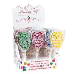 DAY OF THE DEAD SKULL 1.7 OZ LOLLIPOP