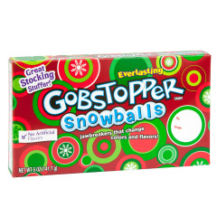 GOBSTOPPER CHRISTMAS SNOWBALLS 5 OZ THEATER BOX