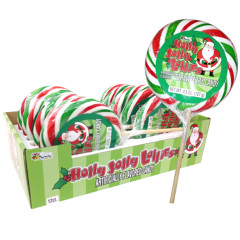 CHRISTMAS HOLLY JOLLY LOLLIES JUMBO LOLLIPOP 4.5 OZ