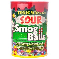TOXIC WASTE SOUR SMOG BALLS BANK 4 OZ