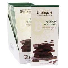 BISSINGER'S 75% DARK CHOCOLATE 3 OZ BAR