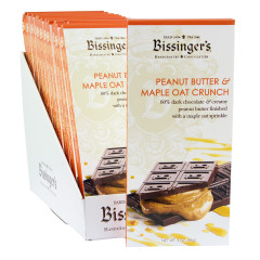 BISSINGER'S DARK CHOCOLATE PEANUT BUTTER AND MAPLE OAT CRUNCH 3 OZ BAR