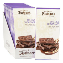 BISSINGER'S 38% MILK CHOCOLATE 3 OZ BAR