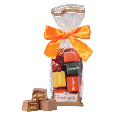 BISSINGER'S MILK CHOCOLATE CARAMEL AUTUMN PRESENTS 7 OZ BAG
