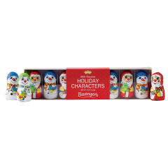 BISSINGER'S MILK CHOCOLATE FOIL CHRISTMAS CHARACTERS 8 PC 4 OZ ACETATE