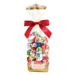 BISSINGER'S MILK CHOCOLATE FOIL CHRISTMAS CHARACTERS 8.8 OZ BAG