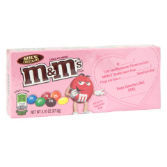 M&M'S MILK CHOCOLATE VALENTINE 3.1 OZ THEATER BOX