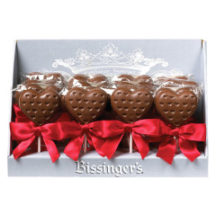 BISSINGER'S MILK CHOCOLATE HEART 1 OZ LOLLIPOP