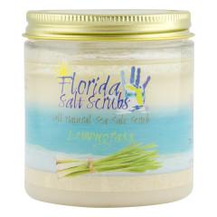 FLORIDA SALT SCRUBS SEA SALT LEMONGRASS SCRUB 12.1 OZ JAR *FL DC ONLY*
