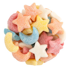 CLEVER CANDY GUMMY GLITTER SOUR STARS AND MOONS