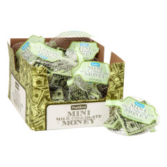 MINI MILK CHOCOLATE MONEY 2.96 OZ MESH BAG