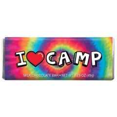 CLEVER CANDY I LOVE CAMP MILK CHOCOLATE 1.75 OZ BAR
