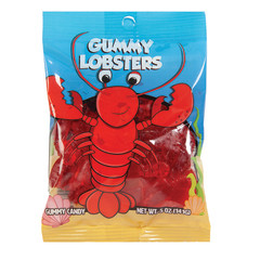 AMUSEMINTS GUMMY LOBSTERS 5 OZ PEG BAG