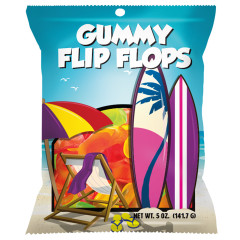 AMUSEMINTS GUMMY FLIP FLOPS 5 OZ PEG BAG