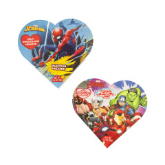 AVENGERS AND SPIDERMAN ASSORTED HEART BOX 1.6 OZ