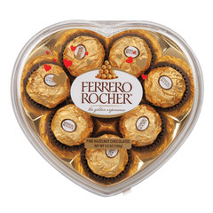 FERRERO ROCHER PLASTIC HEART 8 PC 3.5 OZ