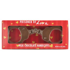 AMUSEMINTS PRISONER OF LOVE MILK CHOCOLATE HANDCUFFS 4.5 OZ BOX